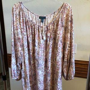 """Lauren Ralph Lauren peasant tunic. 29"""" W & 28"""" L"""